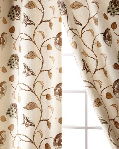 Butterfly Linen/Cotton Curtain  108