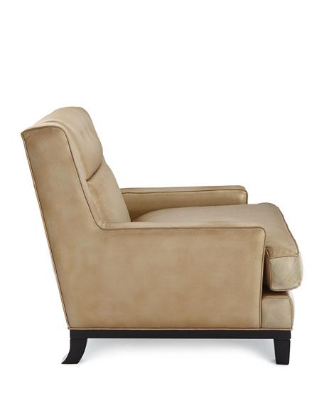 Quinn Metallic Leather Chair