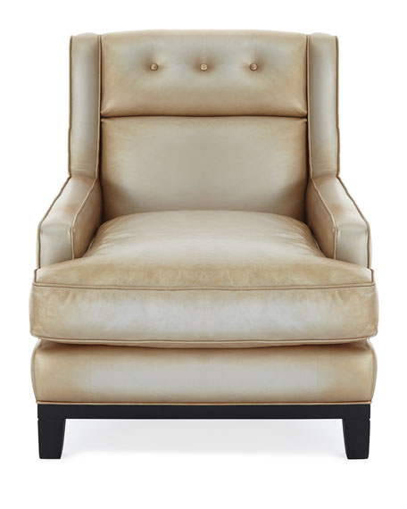 Quinn Metallic Leather Chair