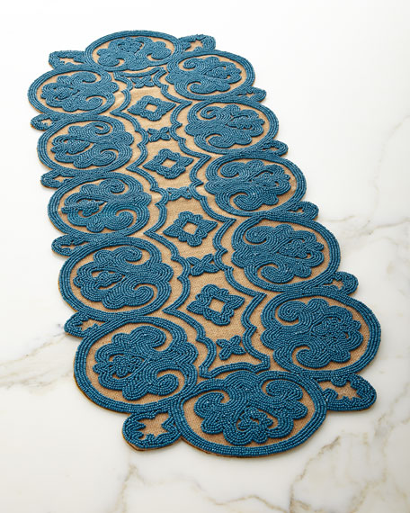 Beaded Jute Table Runner