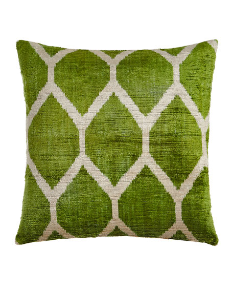 Green Silk Velvet Pillow, 20