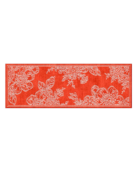 "Wild Rose Runner, Red, 2'6"" x 8'"