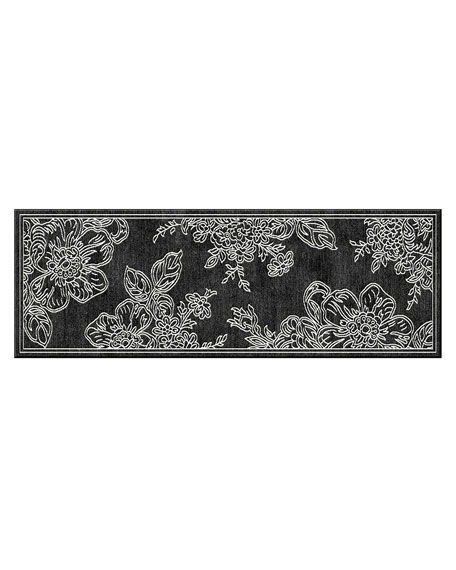 Wild Rose Runner, Black, 2'6