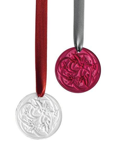 2017 Entrelacs Annual Ornament, Red