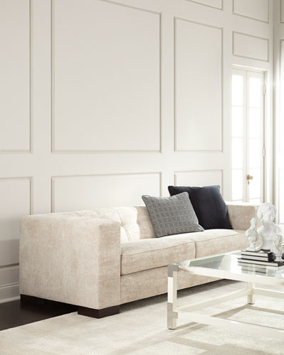 Leather Sectional Velvet Amp Tufted Leather Sofas At Neiman