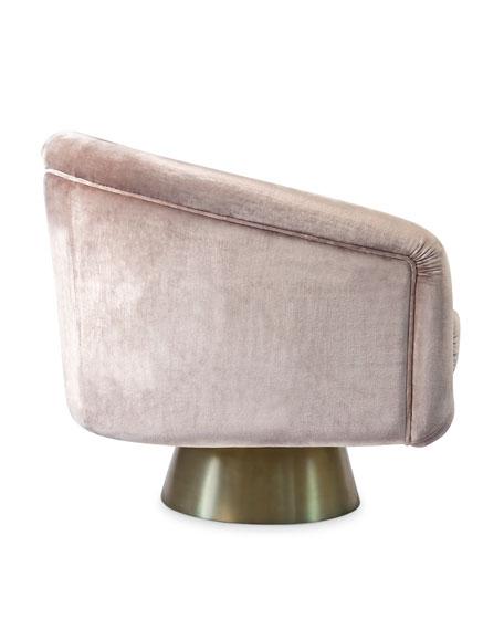 Bacharach Velvet Swivel Chair