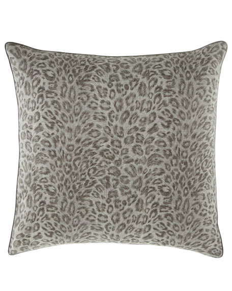 Jane Wilner Designs Bally Leopard-Print European Sham