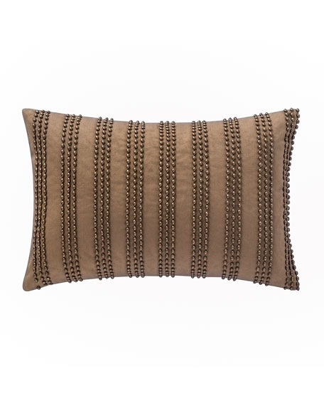 "Alisanne Beaded Pillow, 12"" x 18"""