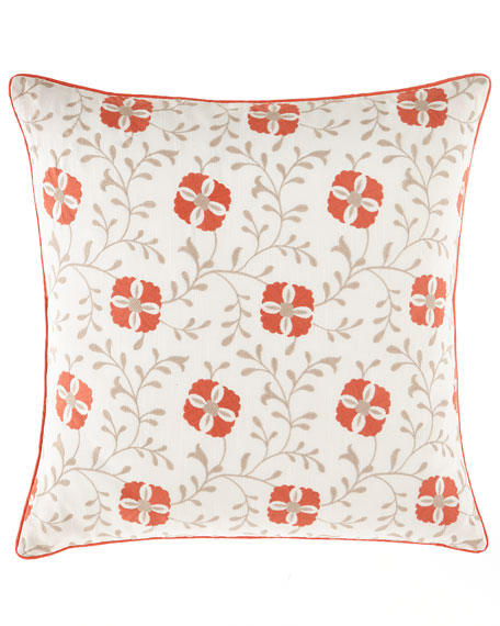 Jane Wilner Designs European Mikado Embroidered Sham