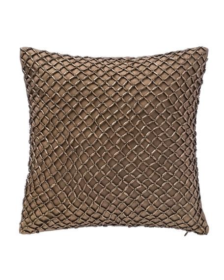 "Alisanne Beaded Pillow, 14""Sq."