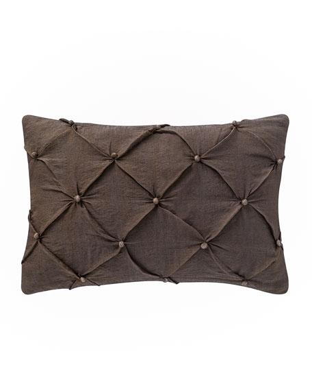 "Alisanne Diamond-Smocked Pillow, 12"" x 18"""