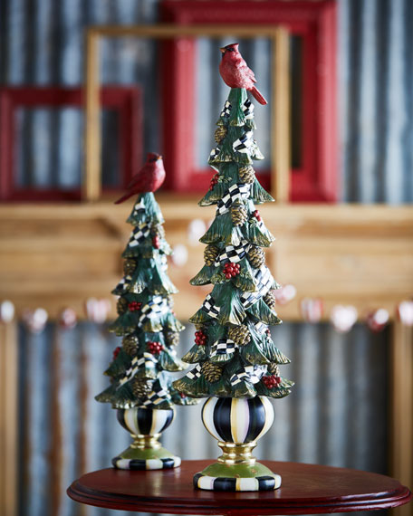 Tall Christmas Cardinal Tree