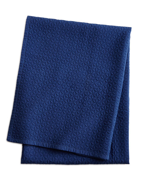 Twin Ink-Blue Manchester Quilted 2-Piece Set