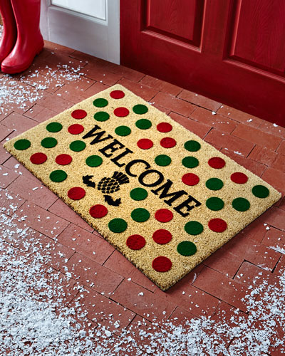 Holiday Dot Welcome Doormat