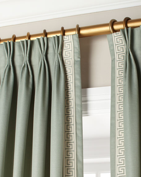 Eastern Accents Mack Ice Left Panel Curtain 48