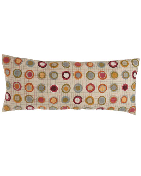 Veva Pillow with Circle Appliques, 15