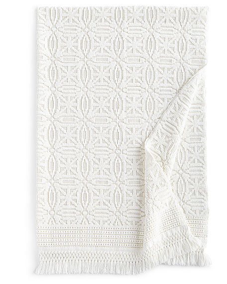 White Knit Anka Throw