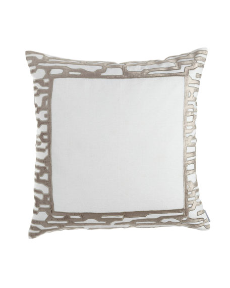 "Christian European Pillow, 28""Sq."