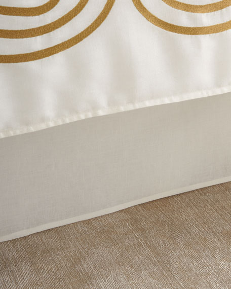 Tailored King Linen/Cotton Bed Skirt