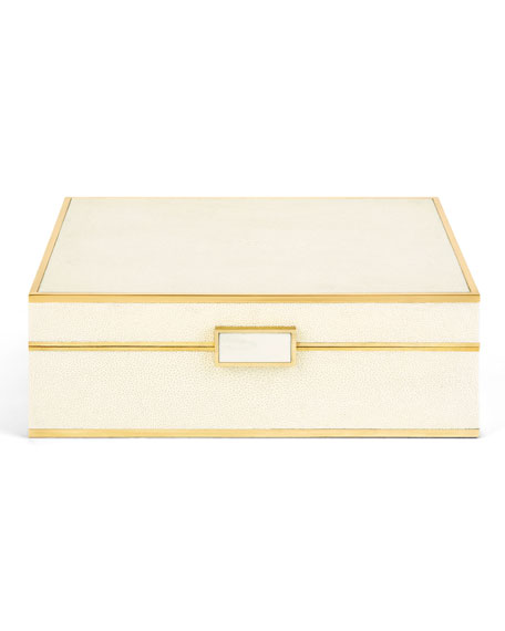 AERIN Large Faux-Shagreen Jewelry Box