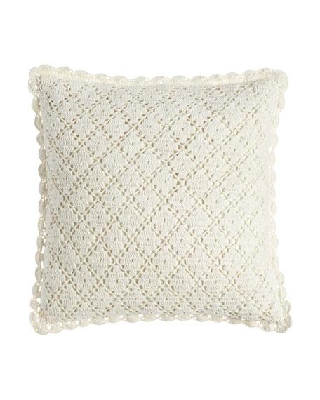 """Lorient Crochet Pillow, 20""""Sq."""