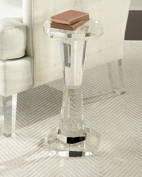 John Richard Collection Duchess Cylinder Crystal Side Table