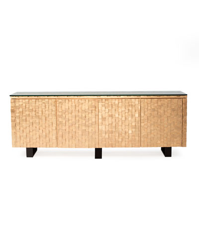 Harmony Gold Leaf Console