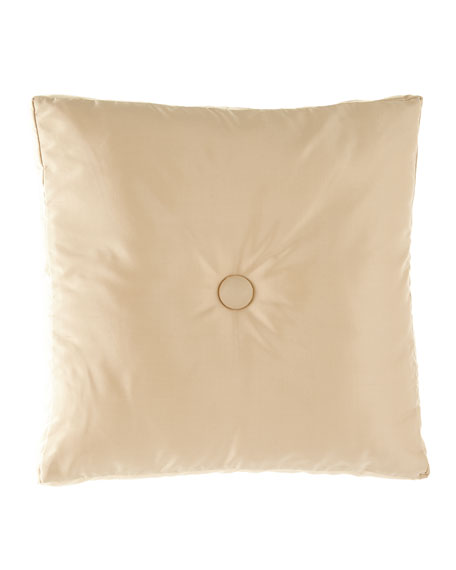 Circumference Silk Pillow with Button Center