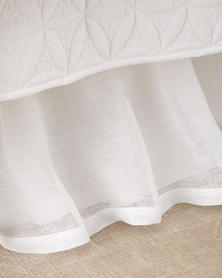 King Linen Voile Dust Skirt