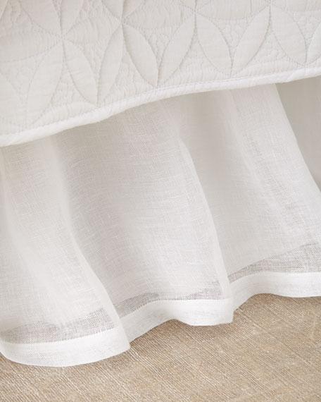 King Linen Voile Dust Skirt