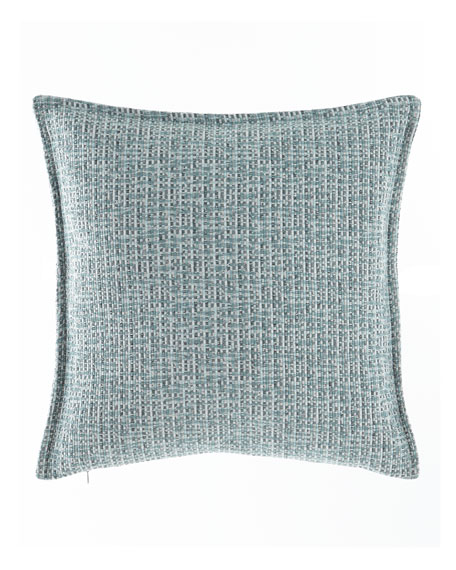 "Mallory Basketweave Pillow, 18""Sq."