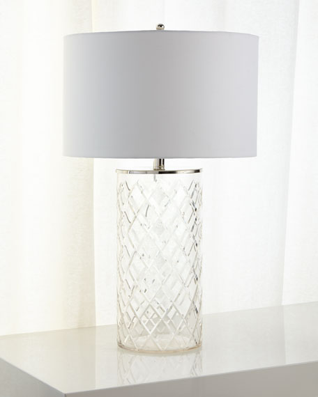 Diamond cut glass table lamp mozeypictures Gallery