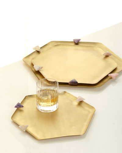 Uni Hexagon Trays, Set of 3