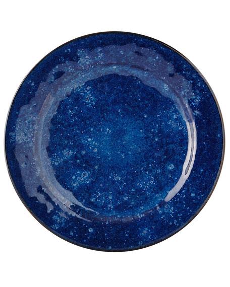 Puro Dappled Cobalt Dinner Plate