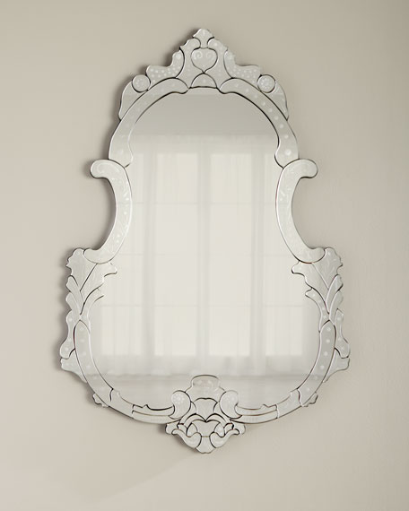 Pear-Shaped Venetian Mirror
