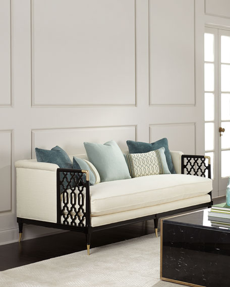 Caracole Anya Lattice Sofa