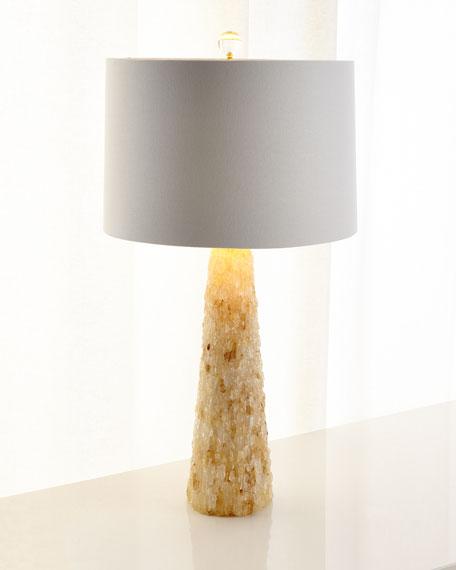Yellow Quartz Table Lamp