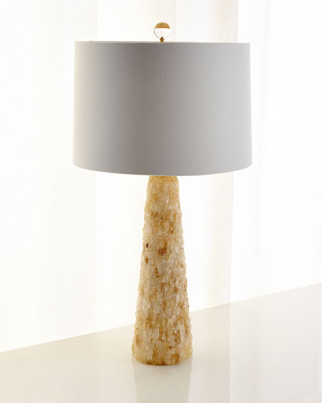 Yellow Quartz Table Lamp