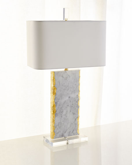 White Marble Table Lamp