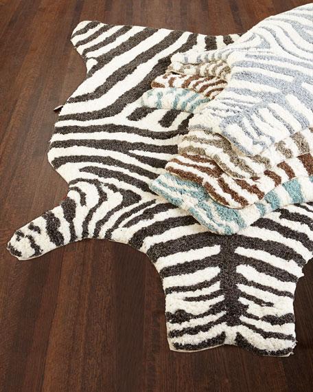 "Lilly Zebra Shag Rug, 5' x 7'6"""