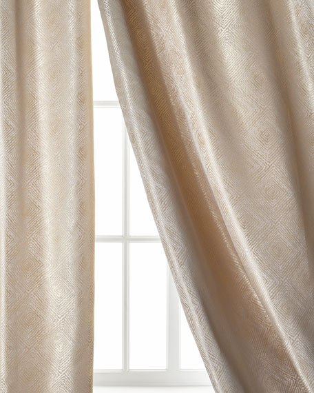 Polygon Curtain, Taupe, 96""