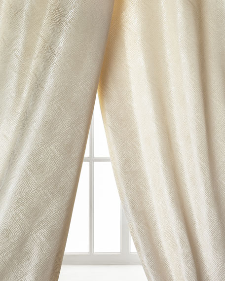 Polygon Curtain, Ivory, 108""