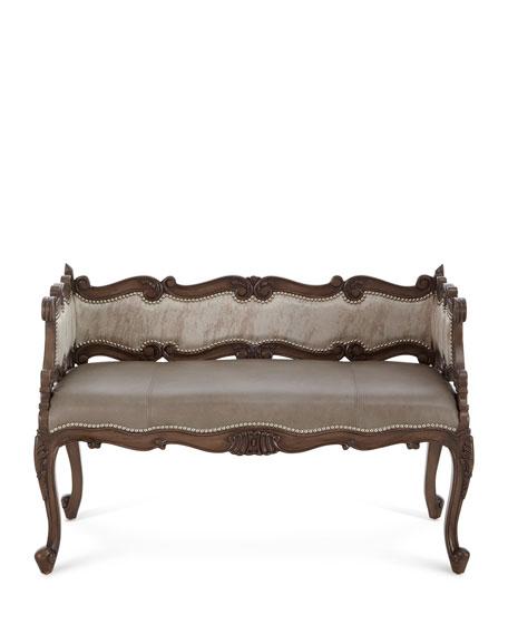 Jaxson Leather Bench