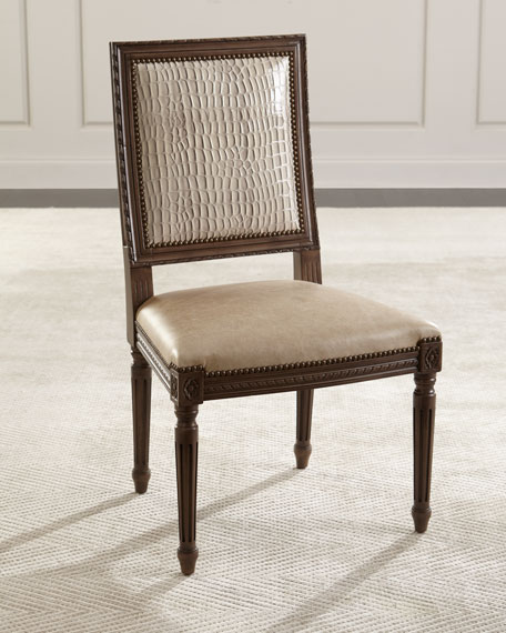 Louis Leather Dinning Chair