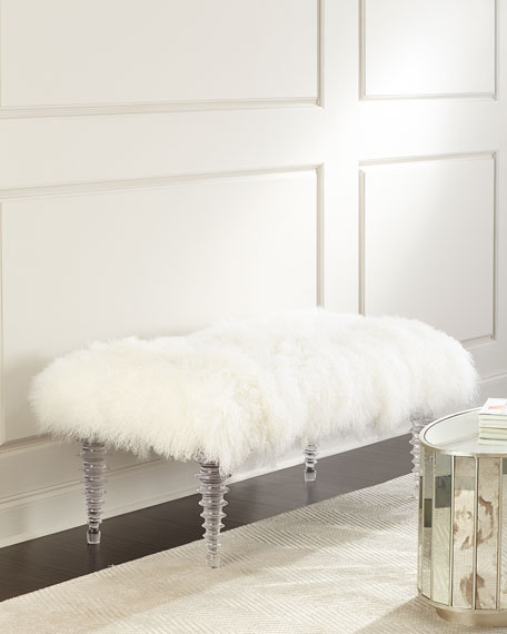 Massoud Kizzy Tibetan Sheepskin Bench