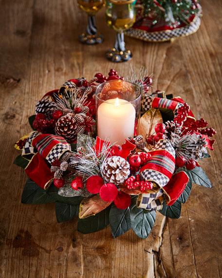 Tartan Frost Candle Centerpiece