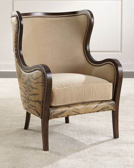 Nadra Leather Wing Chair