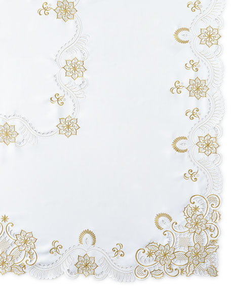 "Armina 72"" x 144"" Tablecloth & 12 Napkins"