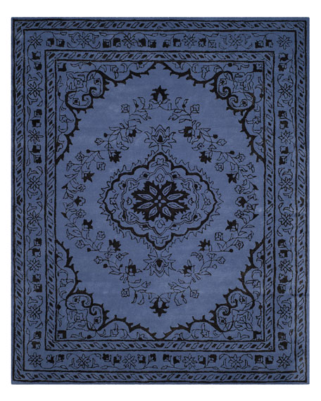 Jaycee Purple Hand-Tufted Rug, 5' x 8'