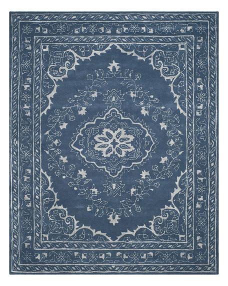 Jaycee Blue Hand-Tufted Rug, 5' x 8'